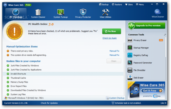 Wise Care 365 PRO Crack donwload