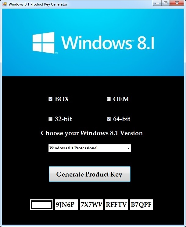 Windows 8.1 Product Key Generator Download
