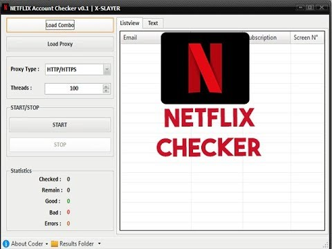 NetFlix Account Checker ProxyLess
