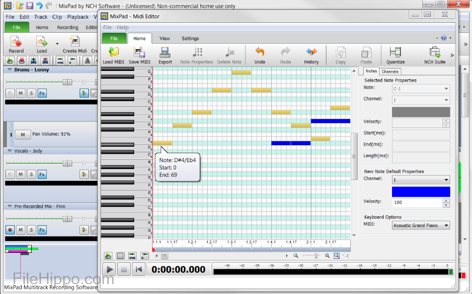 MixPad 5.96 with Crack Free Download