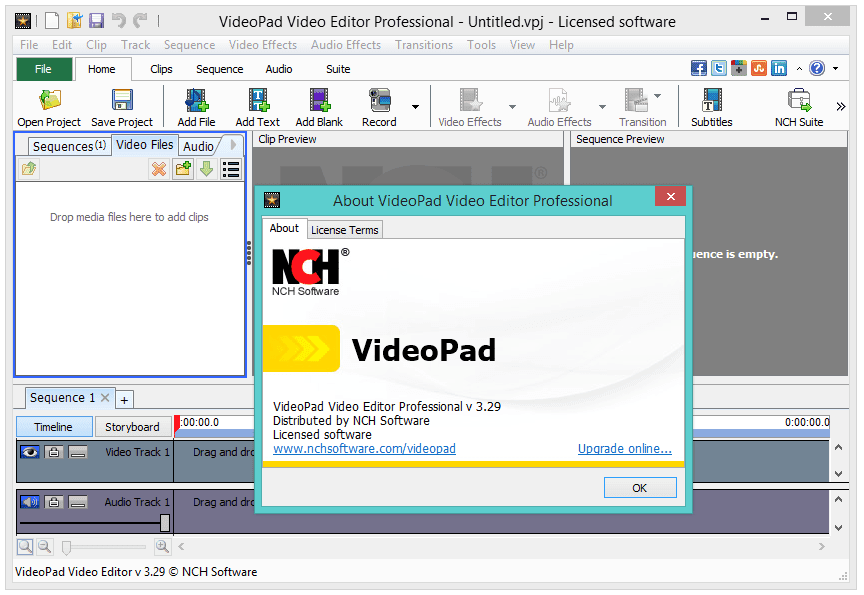 Nch videopad 7.04 registration code