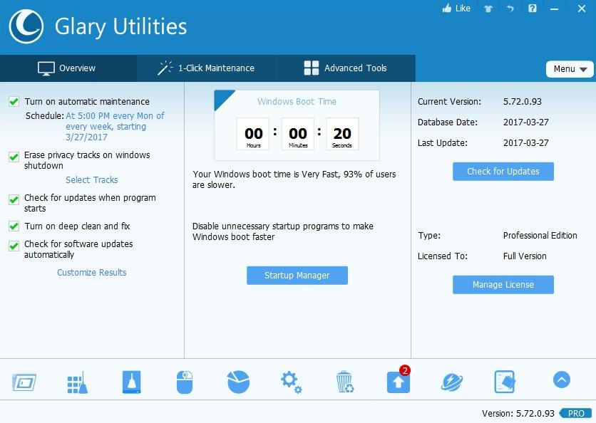 Glary Utilities Pro 5.12 Screenshot 1