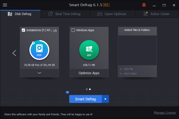 IObit Smart Defrag Pro 6.5.0.92 Screenshot 1