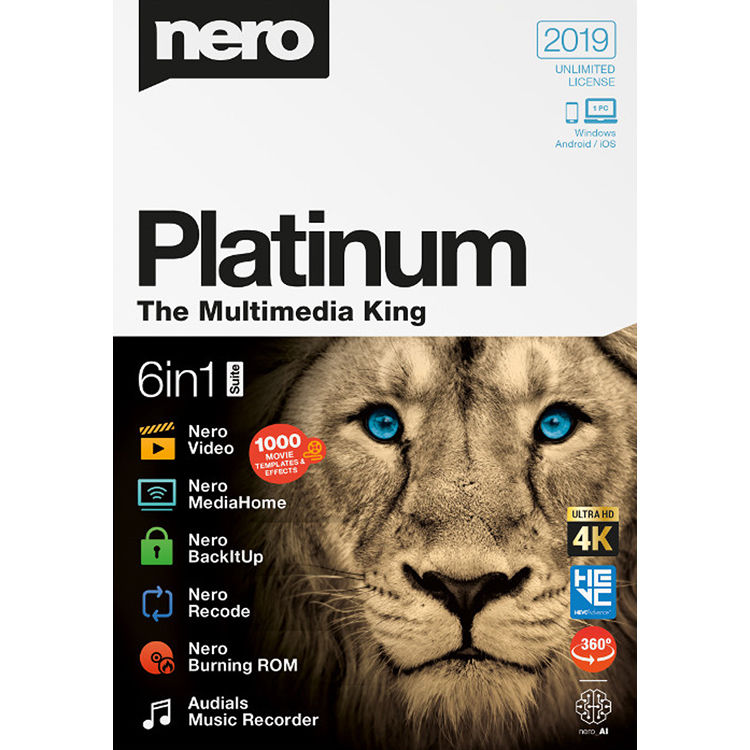 Nero Platinum 2019 Cover
