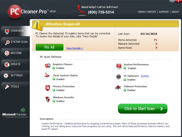 PC Cleaner Pro 2020 Screenshot 1